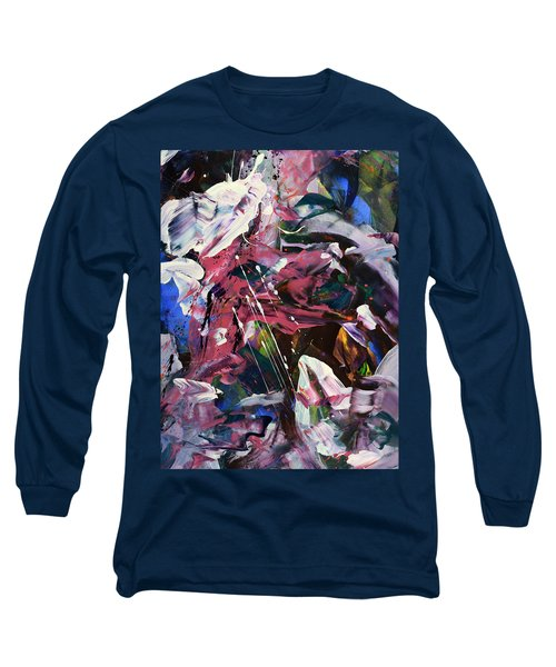 Wild Orchid Abstract Long Sleeve T-Shirt