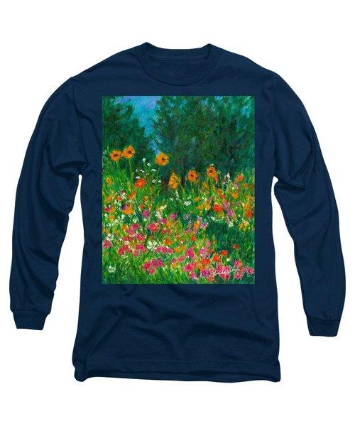 Wildflower Rush Long Sleeve T-Shirt by Kendall Kessler