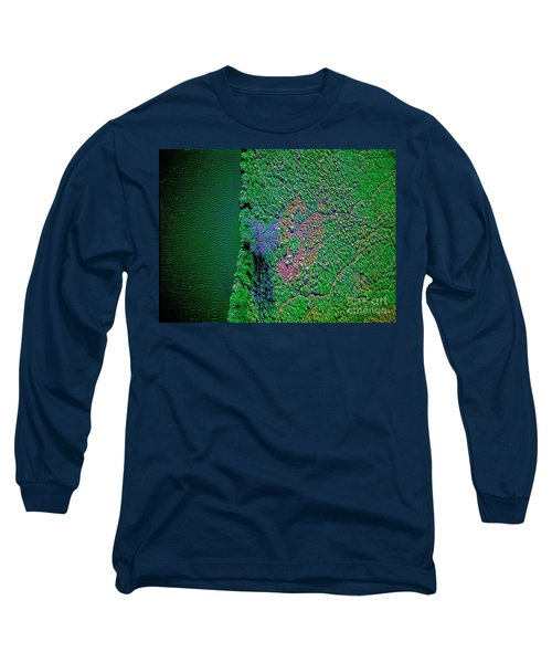 Wind Blown Marsh Tree And Water Long Sleeve T-Shirt