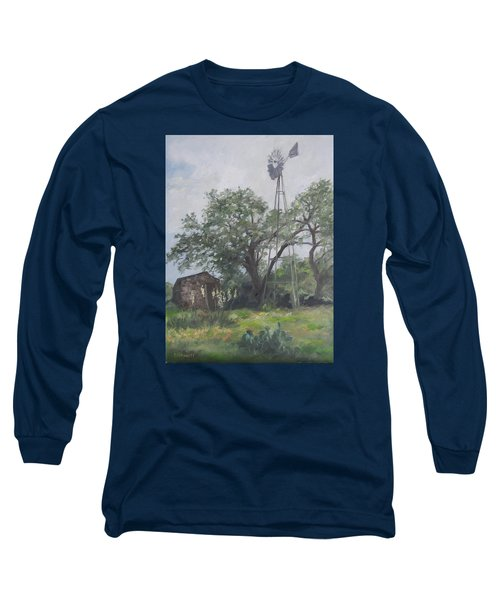 Windmill At Genhaven Long Sleeve T-Shirt by Connie Schaertl