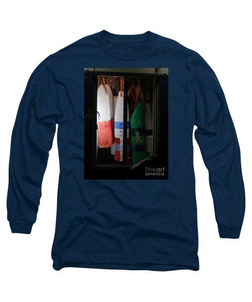 Window Buoys Key West Long Sleeve T-Shirt by Expressionistart studio Priscilla Batzell