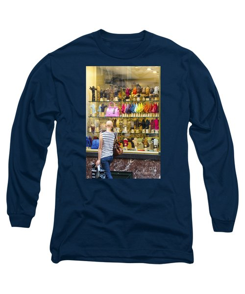 Long Sleeve T-Shirt featuring the photograph Window Shopper by Pravine Chester