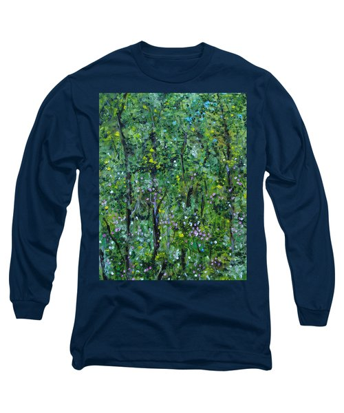 Long Sleeve T-Shirt featuring the painting Windsor Way Woods by Judith Rhue
