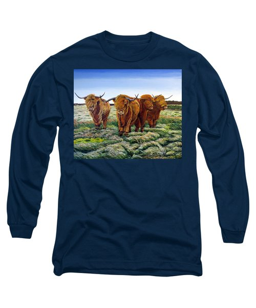 Windswept Highland Cattle  Long Sleeve T-Shirt