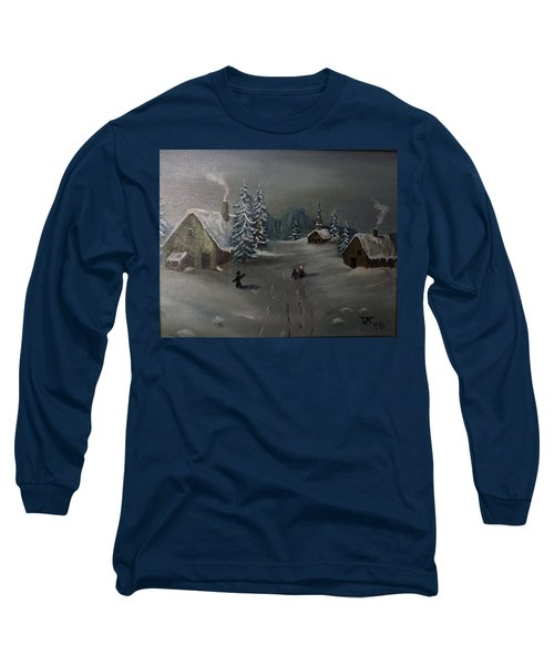 Winter In A German Village Long Sleeve T-Shirt