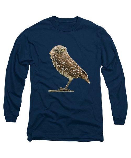 Winking Owl Long Sleeve T-Shirt by Bradford Martin