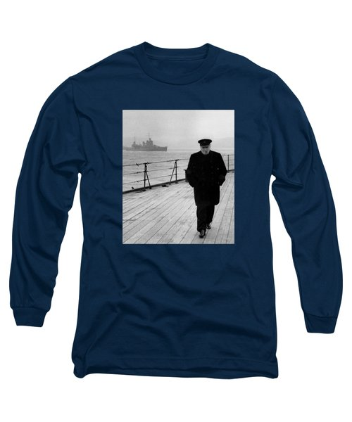 Winston Churchill At Sea Long Sleeve T-Shirt