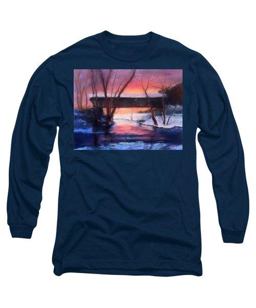 Winter At Bennett's Mill Long Sleeve T-Shirt by Gail Kirtz