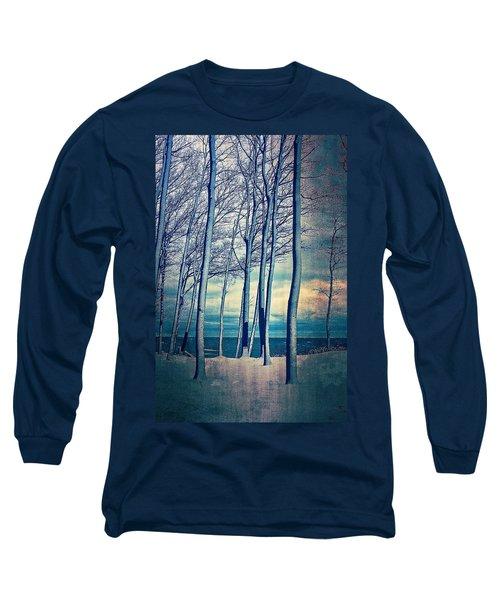 Winter At Lake Michigan Long Sleeve T-Shirt