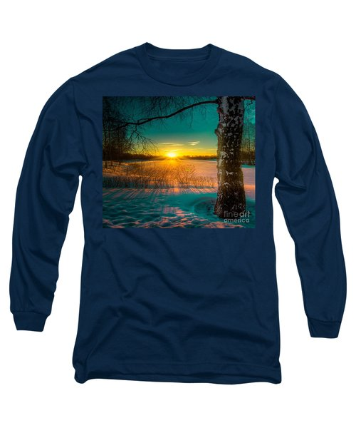 Winter Delight In British Columbia Long Sleeve T-Shirt by Rod Jellison