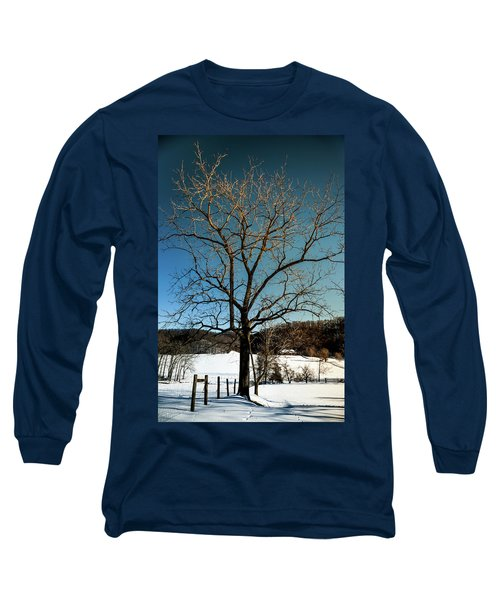 Long Sleeve T-Shirt featuring the photograph Winter Glow by Karen Wiles
