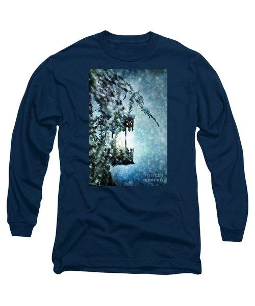 Winter Lantern Long Sleeve T-Shirt by Stephanie Frey