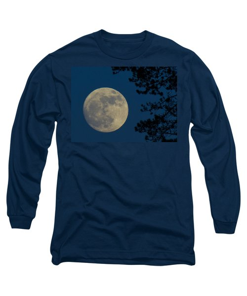 Winter Moon Long Sleeve T-Shirt by Randy Hall