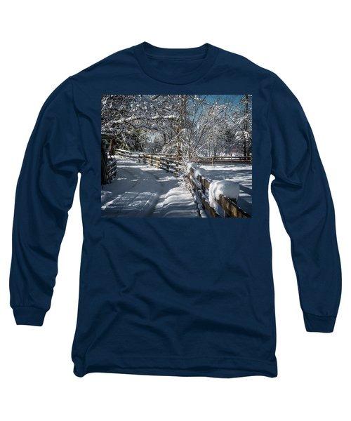 Winter On Ruskin Farm Long Sleeve T-Shirt