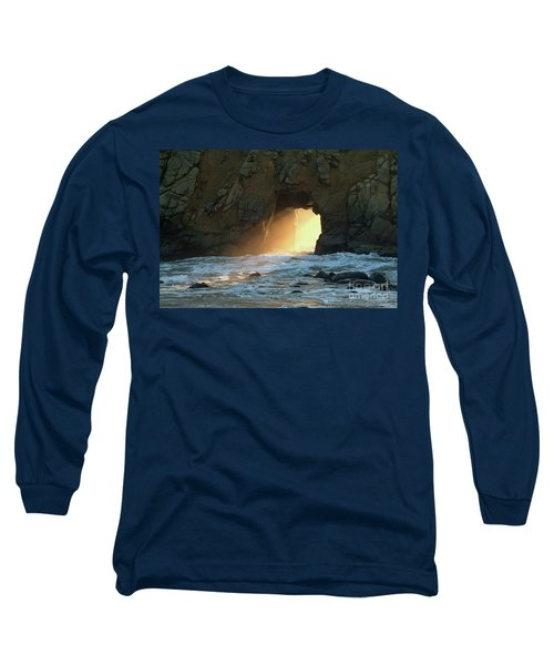 Winter Solstice Sunset In Big Sur Long Sleeve T-Shirt