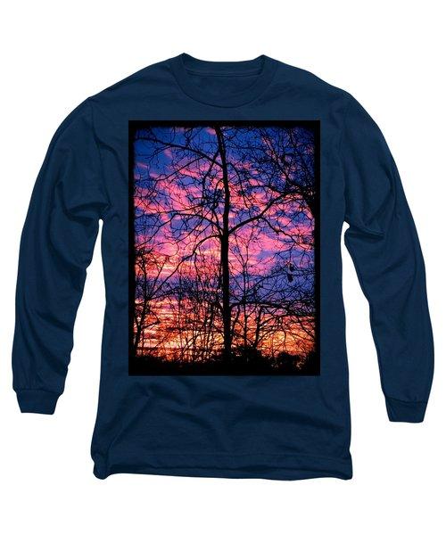 Winter Sunrise Long Sleeve T-Shirt by Betty Buller Whitehead