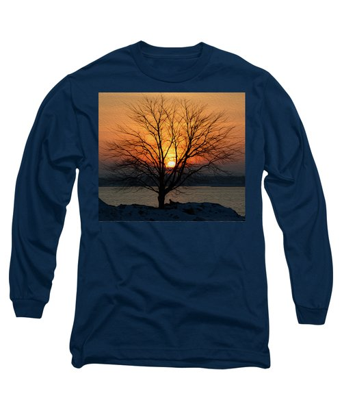Winter Tree Sunrise Long Sleeve T-Shirt