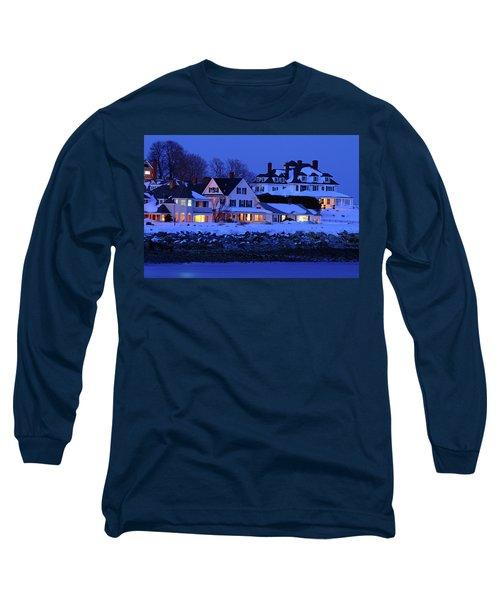 Winter Waterfront Long Sleeve T-Shirt by James Kirkikis