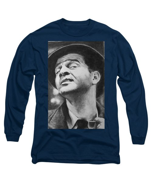 Long Sleeve T-Shirt featuring the drawing Wise Guy by Rachel Hames