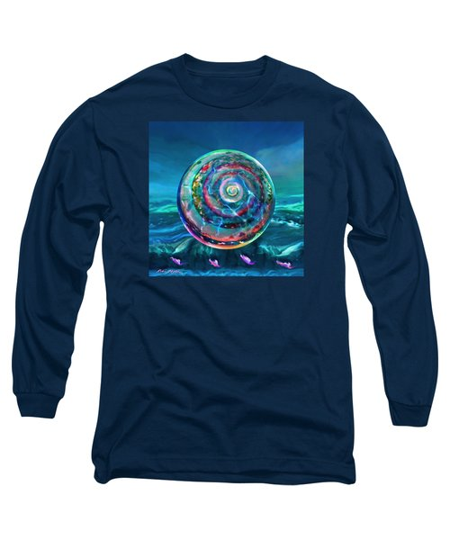 Long Sleeve T-Shirt featuring the painting Withstanding Orby Weather by Robin Moline