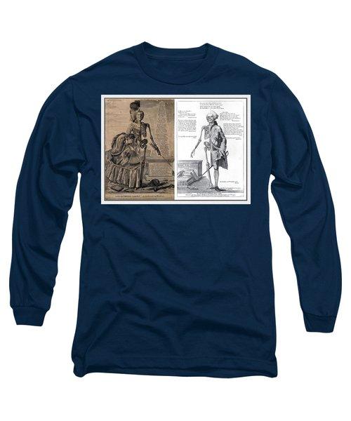 Long Sleeve T-Shirt featuring the digital art Woman And A Man by Maciek Froncisz