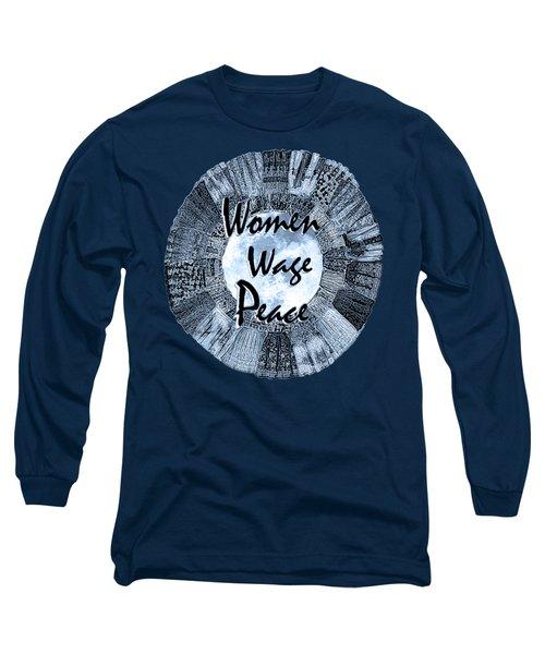 Women Wage Peace Blue Long Sleeve T-Shirt