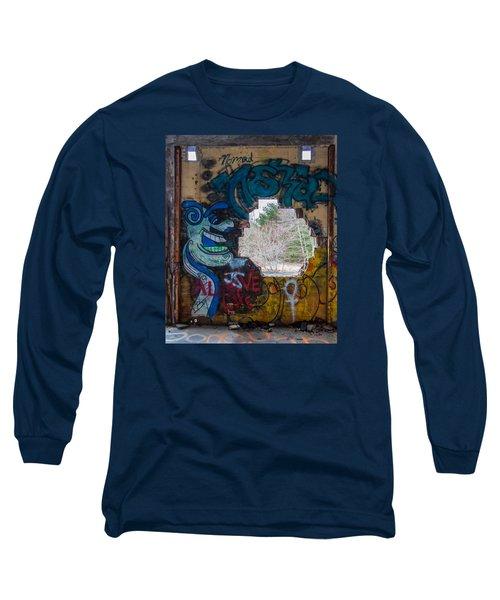 Wompatuck Graffiti Man Long Sleeve T-Shirt by Brian MacLean