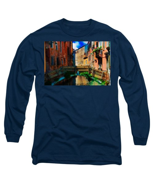 Wooden Bridge Long Sleeve T-Shirt by Harry Spitz