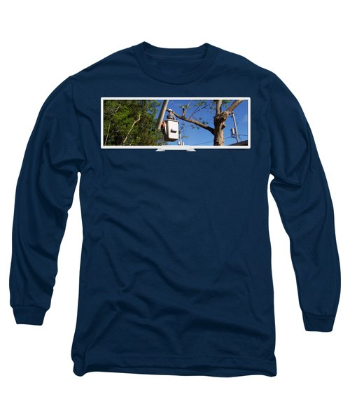 Woodland Tree Service Long Sleeve T-Shirt by Evergreenarborists