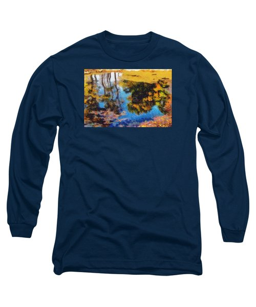 Long Sleeve T-Shirt featuring the photograph Woods In The Pond by Spyder Webb