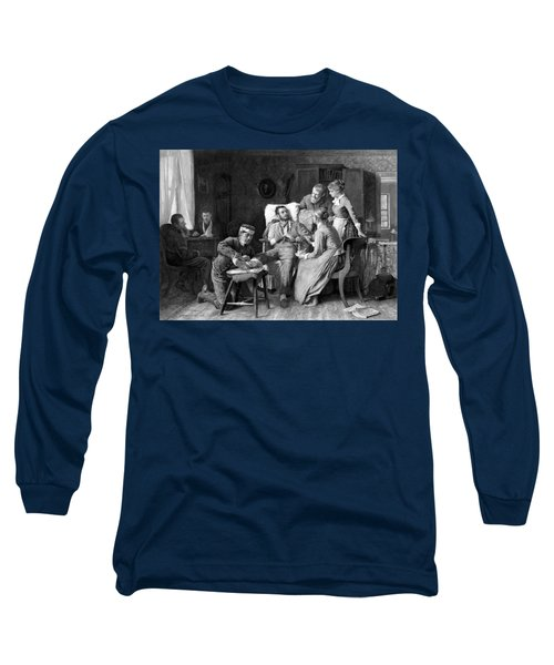 Wounded Soldier At The Battle Of Gettysburg Long Sleeve T-Shirt