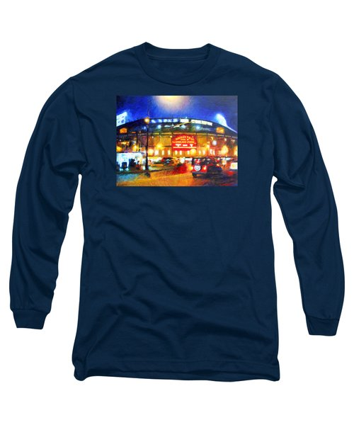 Wrigley Field Home Of Chicago Cubs Long Sleeve T-Shirt