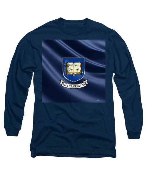 Yale University Coat Of Arms.  Long Sleeve T-Shirt by Serge Averbukh