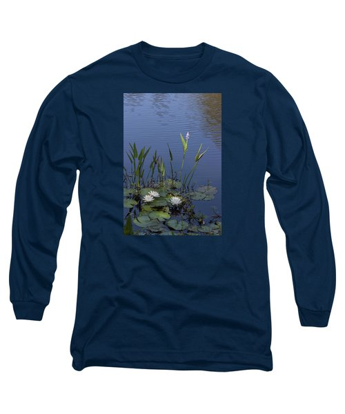 Yawkey Wildlife Reguge Water Lilies With Rare Plant Long Sleeve T-Shirt by Suzanne Gaff