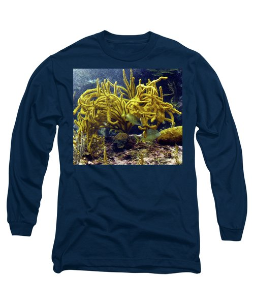 Long Sleeve T-Shirt featuring the photograph Yellow Coral Dance by Francesca Mackenney