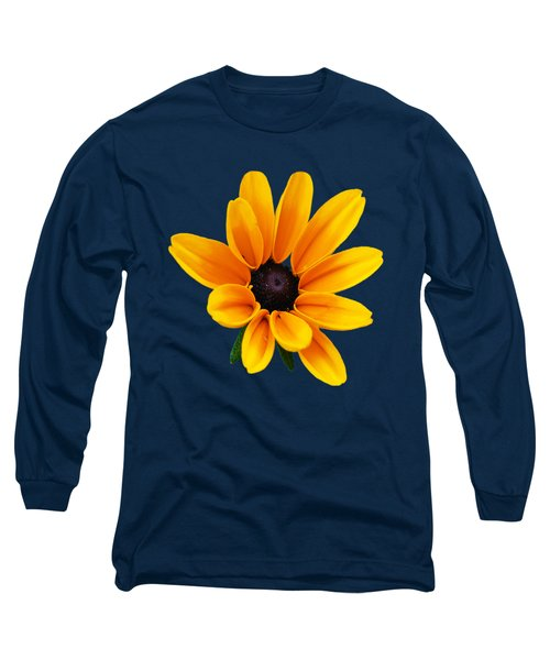 Yellow Flower Black-eyed Susan Long Sleeve T-Shirt by Christina Rollo