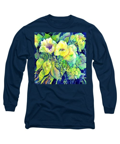 Yellow Flower Potpourri Long Sleeve T-Shirt