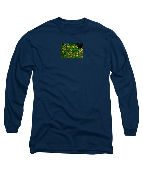 Long Sleeve T-Shirt featuring the photograph Yellow Lily Flowers by Susanne Van Hulst