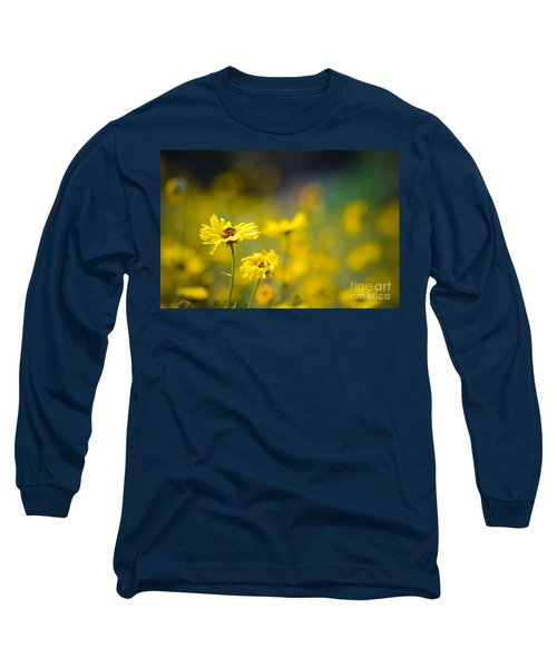 Long Sleeve T-Shirt featuring the photograph Yellow Wild Flowers by Kelly Wade