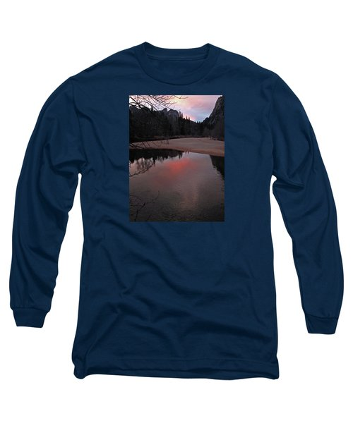 Long Sleeve T-Shirt featuring the photograph Yosemite Reflections 01 2015 by Walter Fahmy