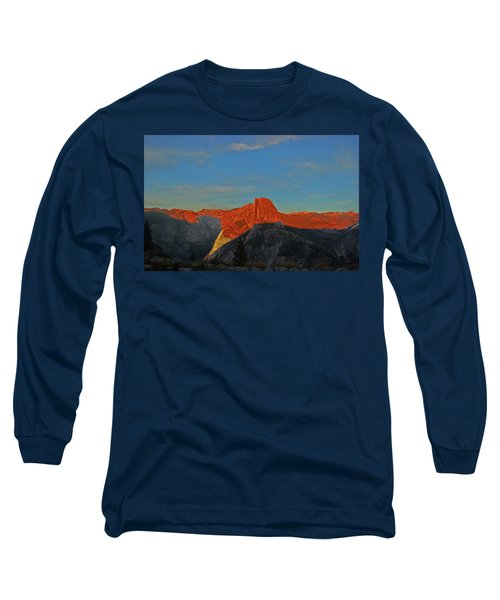 Long Sleeve T-Shirt featuring the photograph Yosemite Summer Sunset Abstracted 1 by Walter Fahmy