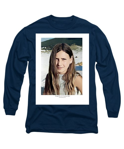 Young Girl, Spain Long Sleeve T-Shirt by Kenneth De Tore
