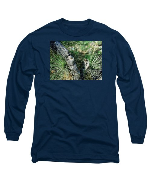 Long Sleeve T-Shirt featuring the photograph Yucca Cactus On The Arizona Desert by Merton Allen
