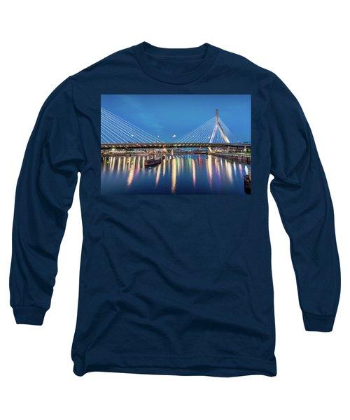 Zakim Bridge And Charles River At Dawn Long Sleeve T-Shirt