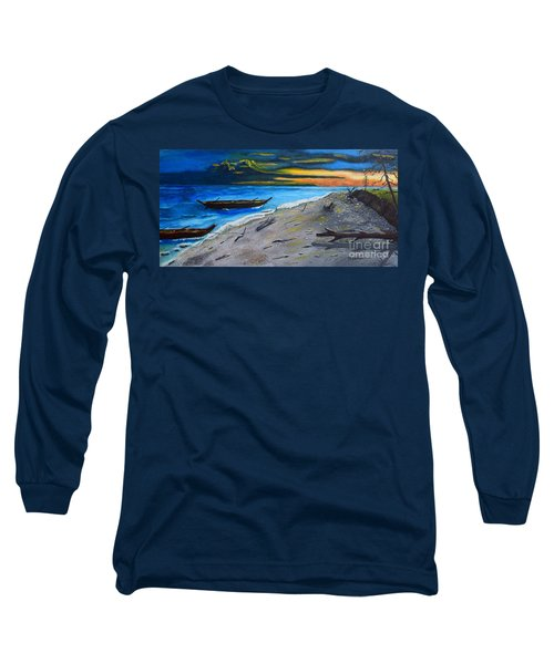 Zombie Island Long Sleeve T-Shirt by Melvin Turner