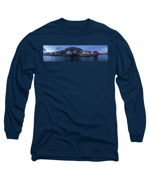 Norwegian Seaside Town Nyksund Long Sleeve T-Shirt