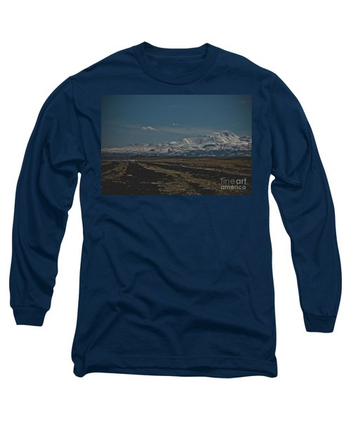 Snow-covered Mountains In The Turkish Region Of Capaddocia. Long Sleeve T-Shirt