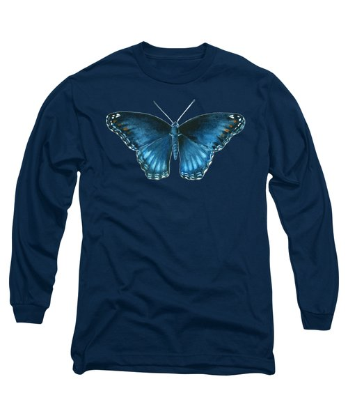 113 Brenton Blue Butterfly Long Sleeve T-Shirt