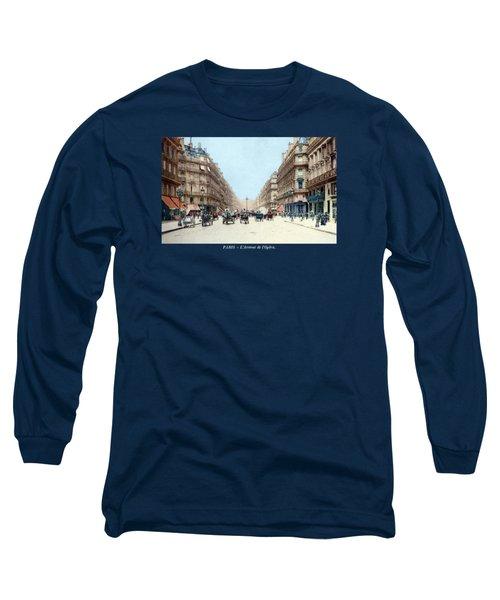 1910 The Avenue De L'opera, Paris Long Sleeve T-Shirt