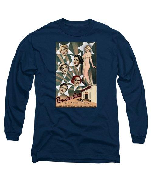1943 Paradise Girls Cabaret Nyc Long Sleeve T-Shirt